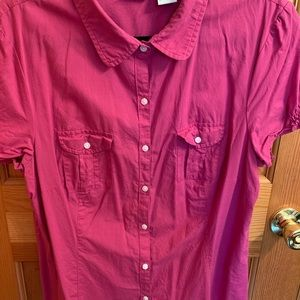 LL  Bean, button up blouse. Large.